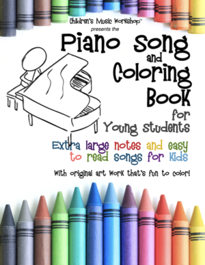 Piano Song and Coloring Book